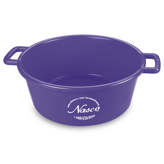 5-Gallon Deluxe Plastic Feed Pan - Purple