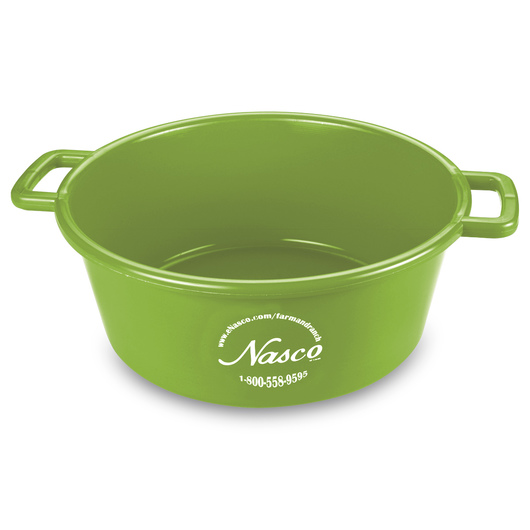 5-Gallon Deluxe Plastic Feed Pan - Lime Green