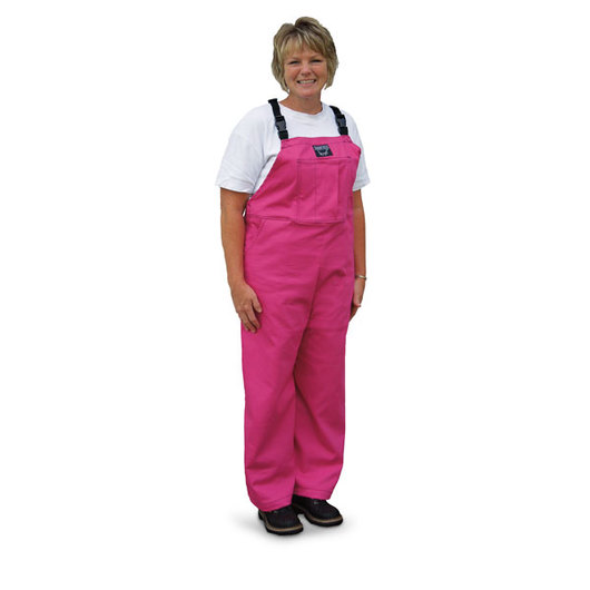 Pink Waterproof Bibbed Overalls - Adult X-Small/Youth 14-16