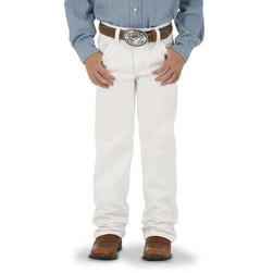 Wrangler Cowboy Cut Youth Size White Jeans