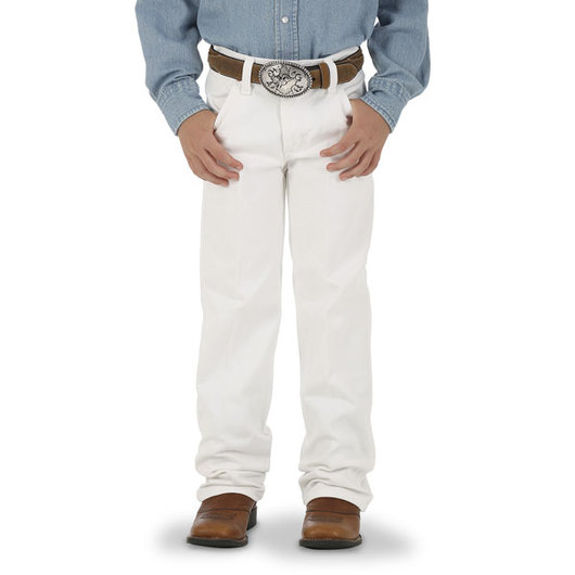 Wrangler® Cowboy Cut® Youth-Size White Jeans - Size 8, Regular