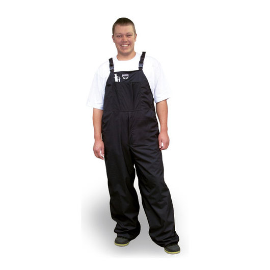 Waterproof Bibbed Overalls, Black - Adult Small/Youth 18-20