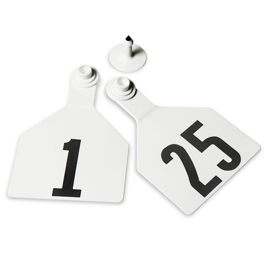 Z Tags Cow Ear Tags White Numbered 1-25