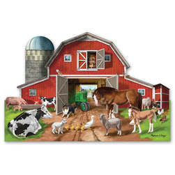 Melissa & Doug® 32-Pc. Busy Barnyard-Shaped Floor Puzzle