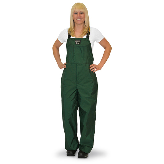 Green Waterproof Bibbed Overalls - Adult X-Small/Youth 14-16