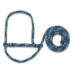 Weaver® Poly Rope Sheep and Goat Halters - Dark Blue/Turquoise/Gray