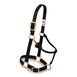 Weaver® Adjustable Chin and Throat Snap Halter - Yearling Horse - Black