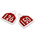 CAL TAG Cow Tag - Numbers on 1 Side - 4 in. L x 3-1/4 in. W - Pkg. of 25 - Numbers 126-150 - Red Over White Base