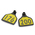 CAL TAG Calf Tag - Numbers on 1 Side - 3 L x 2-1/4 W - Pkg. of 25 - Numbers 176-200 - Yellow Over Black Base