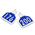 CAL TAG Calf Tag - Numbers on 1 Side - 3 L x 2-1/4 W - Pkg. of 25 - Numbers 176-200 - Dutch Blue Over White Base
