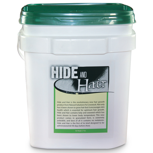 Hide and Hair for Livestock - 27-lb. Pail