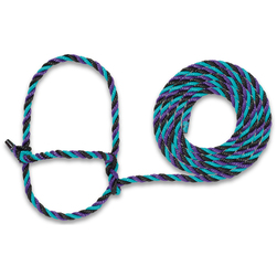 Weaver® Cattle Rope Halter - 7 ft. - Purple/Black/Teal