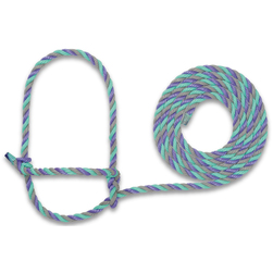 Weaver® Cattle Rope Halter - Blue/Hurricane Blue/Lime Zest