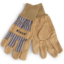 Kinco Pigskin Palm Unlined Work Gloves with Knit Wristband