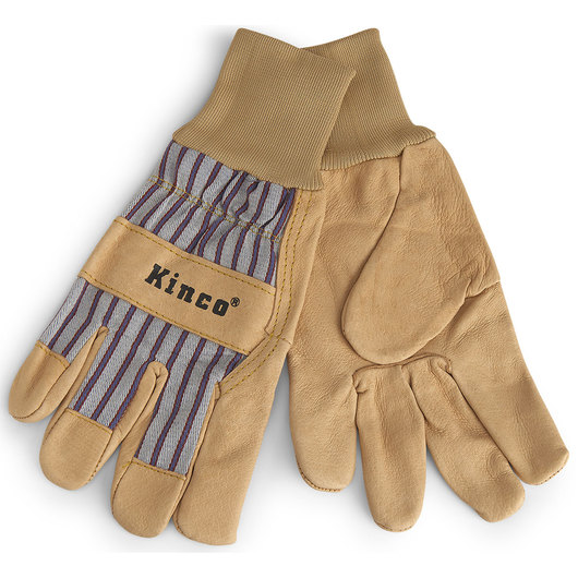 Kinco® Pigskin Palm Unlined Work Gloves with Knit Wristband - Large