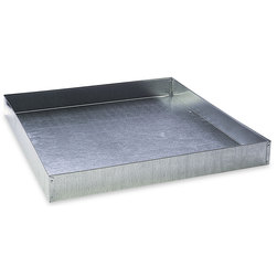 Galvanized Steel Dropping Pan - 24 in. L x 24 in. W x 2-3/4 in. H