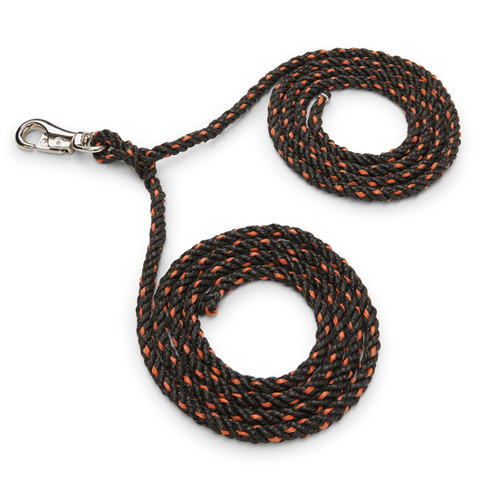 Double Rope Tie - 12 ft. x 7/16 in. dia. - Black and Orange
