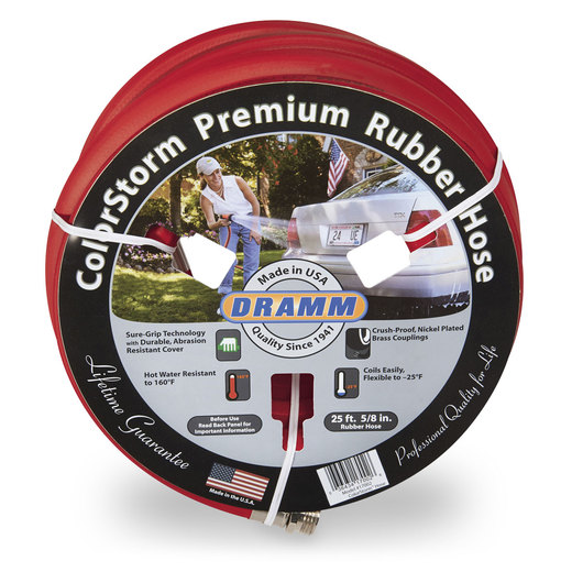 ColorStorm™ Premium Rubber Hose - 5/8 in. x 25 ft. - Red