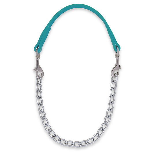 Weaver® Brahma Webb® 24 in. Goat Collar with Nickel-Plated Regular Chain - Teal