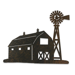 Barn & Windmill Metal Sign