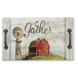 Farm Scene Wooden Tray