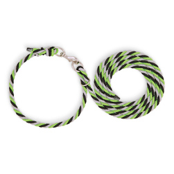 Weaver® Livestock Adjustable Poly Neck Rope - Lime Zest/Black/Gray
