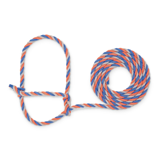 Weaver® Cattle Rope Halter - Blue/Coral/Gray