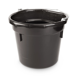 Plastic Bucket - 5-Gallon Flat Back - Black