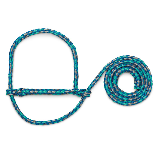 Weaver® Poly Rope Sheep and Goat Halters - Blue/Mint/Gray