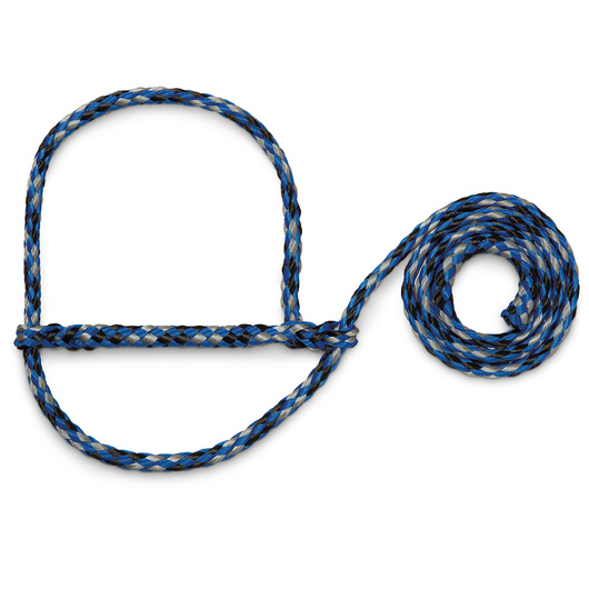 Weaver® Poly Rope Sheep and Goat Halters - Blue/Black/Gray