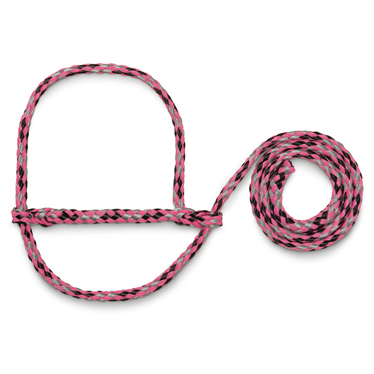 Weaver® Poly Rope Sheep and Goat Halters - Pink/Black/Gray