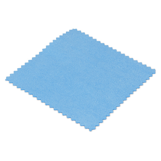 Soft-Tek Mini Microfiber Cleaning Cloths - 4 in. x 4 in. - Pack of 6 - Blue