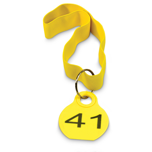 Calf Identification Collars - Yellow, 41-60