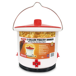 Heated 2-Gallon Poultry Drinker