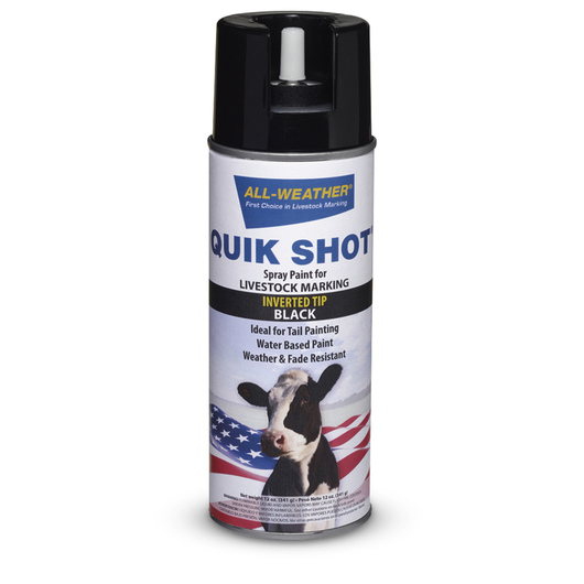 All-Weather® Quik Shot® Spray Paint for Livestock Marking - Black