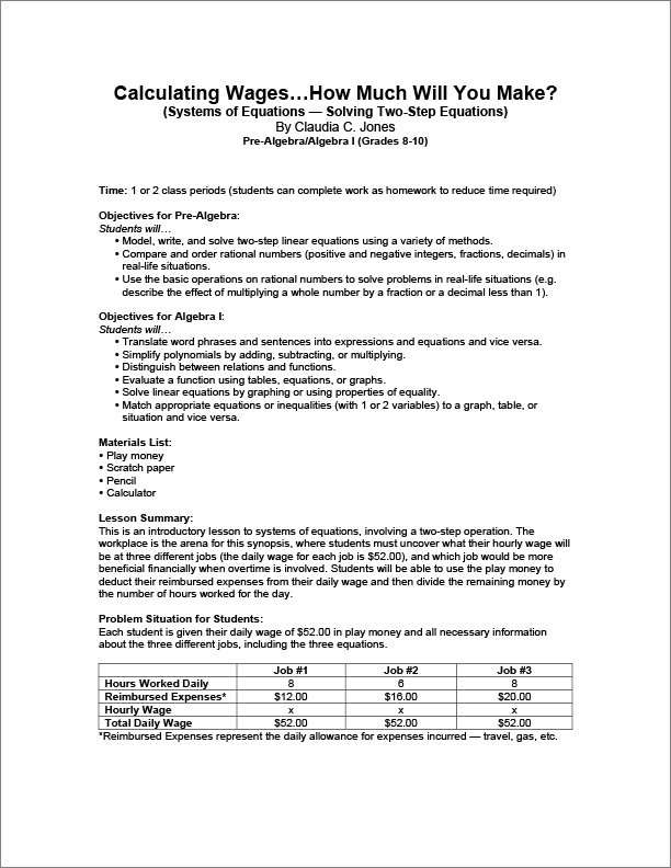 Free Activities Lesson Plans Page Math Nasco