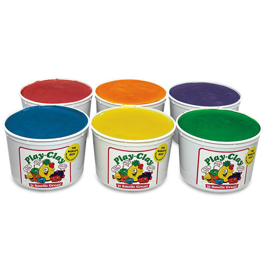 Play Clay™ Scented Dough - Set of Six 5-lb. Tubs