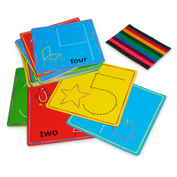Wikki Stix® Basic Learning Set - Numbers & Counting Cards