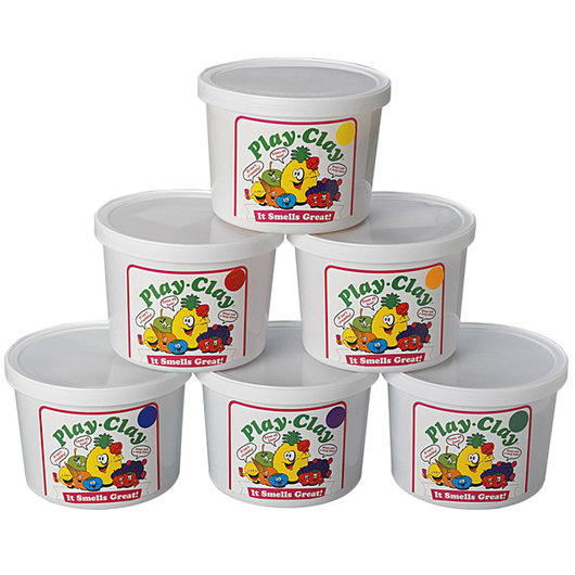 Play Clay™ Scented Dough - Set of Six 3-lb. Tubs