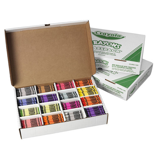 Set of 3 Crayola® Regular-Size, 16-Color Crayon Classpacks®