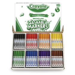 Crayola® 8-Color Conical-Tip Ultra-Clean Washable® Marker Classpack® - Set of 3 Classpacks®