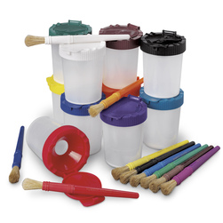 NoSpill Paint Cups & Stubby Brushes