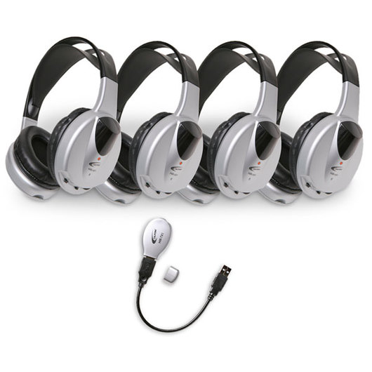 Califone® Wireless Infrared Stereo Computer Headphone Set