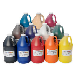 Nasco Economy Washable Paint - Set of 12 Half-Gallons