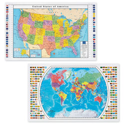 USA & World Map Set