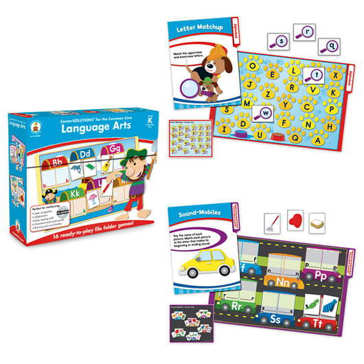 CenterSOLUTIONS® File Folder Games - Language Arts, Grade K