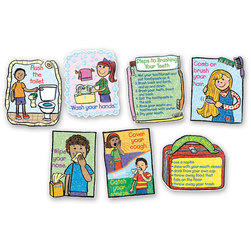Hygiene: Kid-Drawn Bulletin Board Set