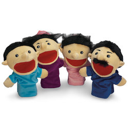 Family Hand Puppets, Hispanic