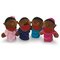 Family Hand Puppets, African-American