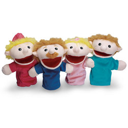 Family Hand Puppets, Caucasian